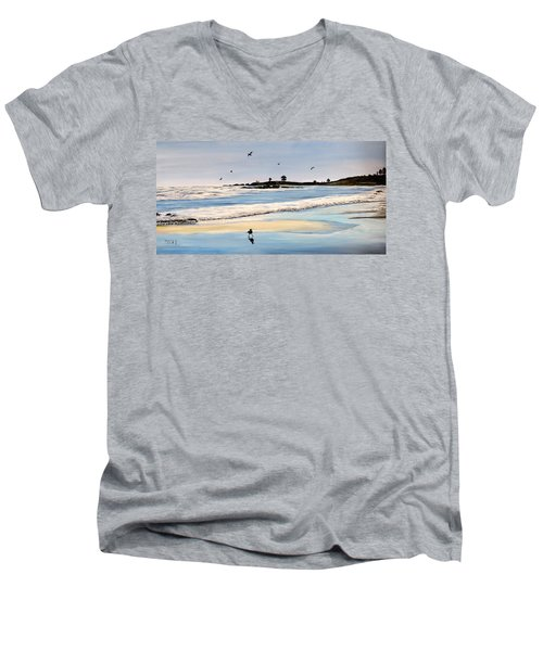 Bull Beach Men's V-Neck T-Shirt