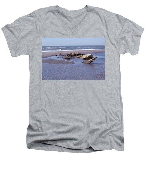 Bull Island 1 Men's V-Neck T-Shirt