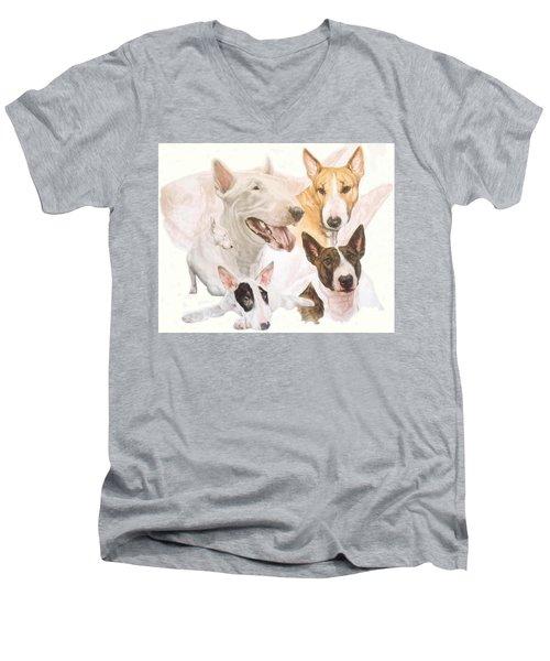 Bull Terrier Medley Men's V-Neck T-Shirt