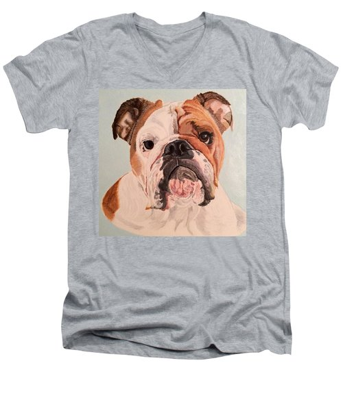 Bulldog Beauty Men's V-Neck T-Shirt