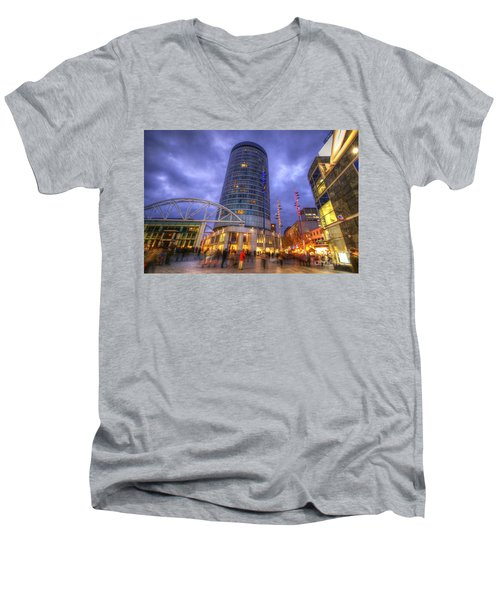 Bullring Centre Men's V-Neck T-Shirt by Yhun Suarez
