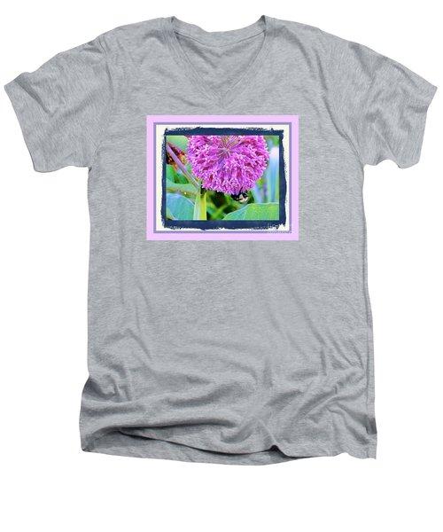 Bumble Bee Cliff Hanger Men's V-Neck T-Shirt
