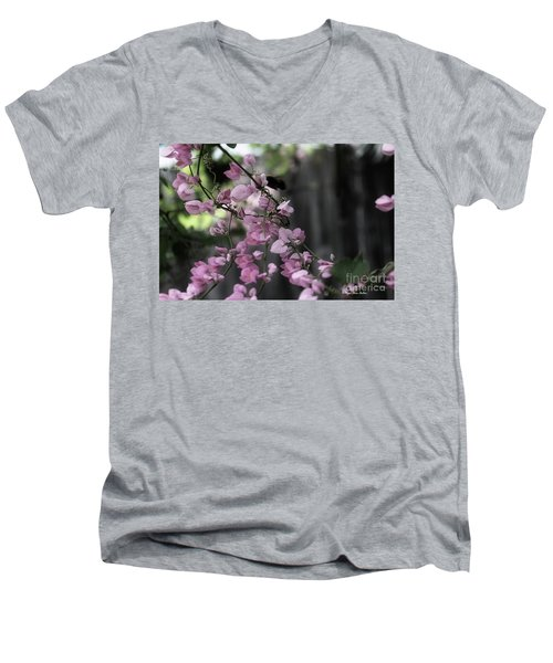 Men's V-Neck T-Shirt featuring the photograph Bumble by Megan Dirsa-DuBois