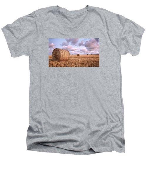 Bundy Hay Bales #1 Men's V-Neck T-Shirt by Brad Grove