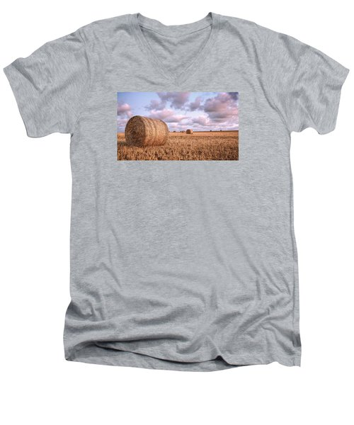 Bundy Hay Bales #1 Men's V-Neck T-Shirt