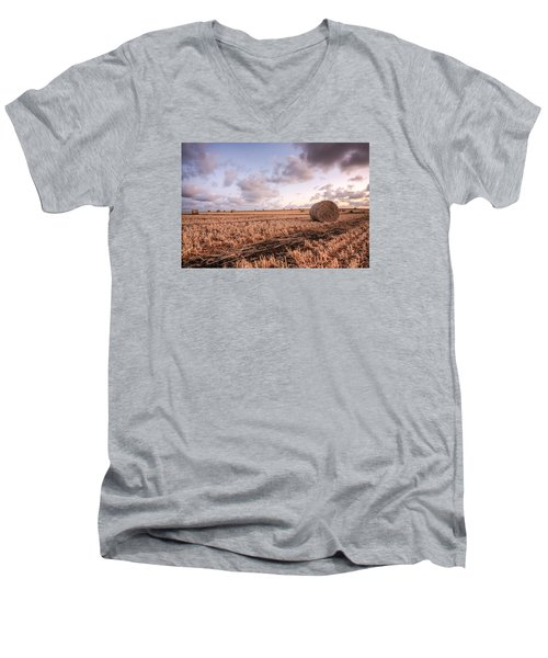 Bundy Hay Bales #2 Men's V-Neck T-Shirt