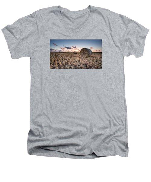Bundy Hay Bales #4 Men's V-Neck T-Shirt by Brad Grove