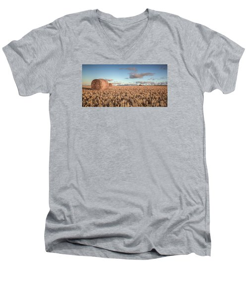 Bundy Hay Bales #6 Men's V-Neck T-Shirt