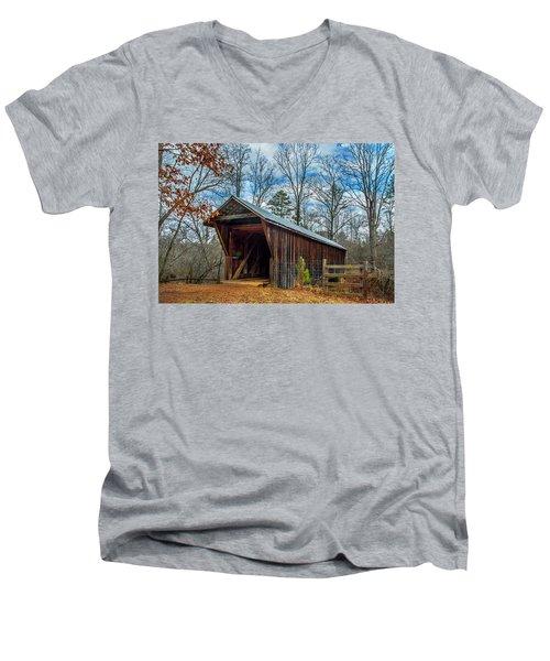 Bunker Hill Cvered Bridge Men's V-Neck T-Shirt
