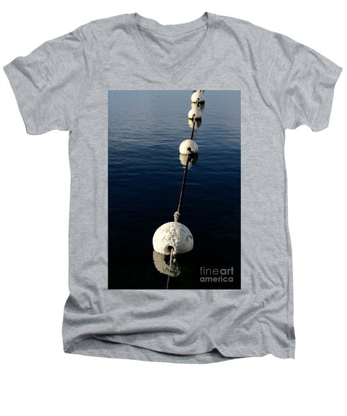Men's V-Neck T-Shirt featuring the photograph Buoy Descending by Stephen Mitchell