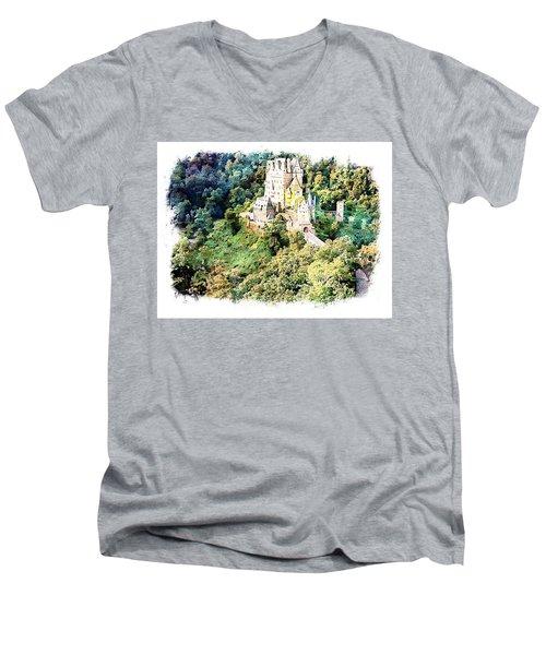 Burg Eltz - Moselle Men's V-Neck T-Shirt by Joseph Hendrix