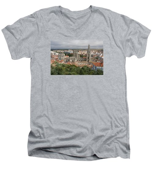 Men's V-Neck T-Shirt featuring the photograph Burgos by Christian Zesewitz