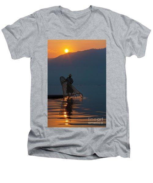 Men's V-Neck T-Shirt featuring the photograph Burma_d143 by Craig Lovell
