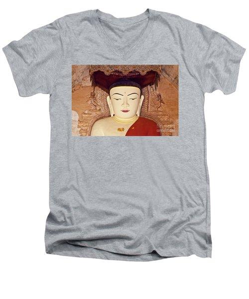 Men's V-Neck T-Shirt featuring the photograph Burma_d2085 by Craig Lovell