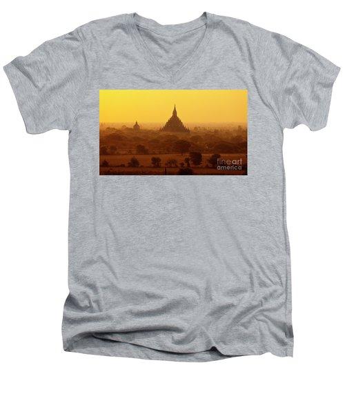 Burma_d2227 Men's V-Neck T-Shirt by Craig Lovell