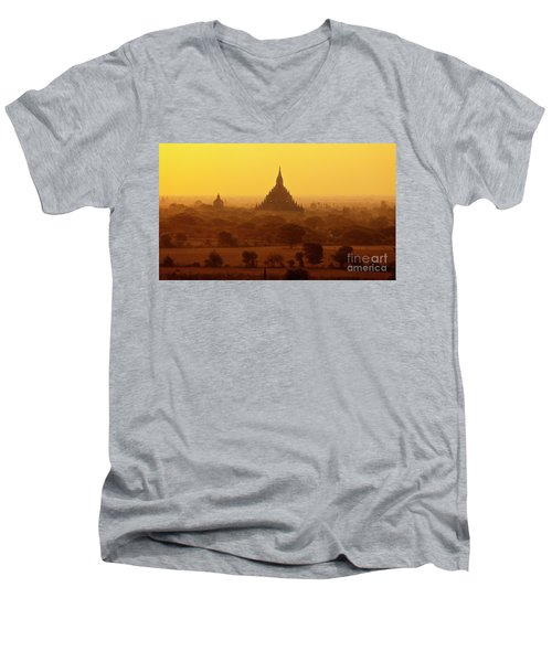 Burma_d2227 Men's V-Neck T-Shirt