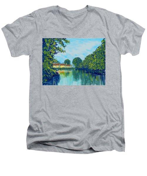 Burnby Hall Men's V-Neck T-Shirt