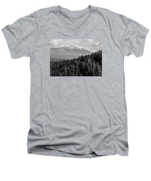 Burney Mountain Men's V-Neck T-Shirt