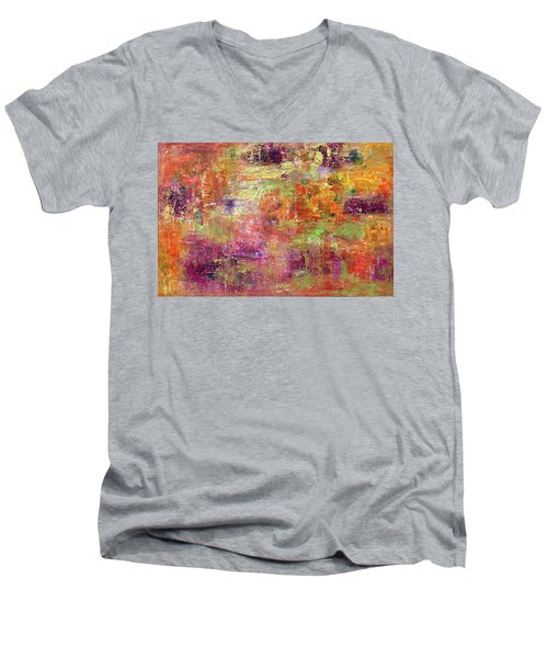 Burning Fire #2 Men's V-Neck T-Shirt