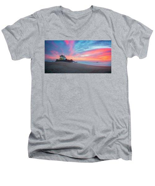 Burning Sky V3 Men's V-Neck T-Shirt