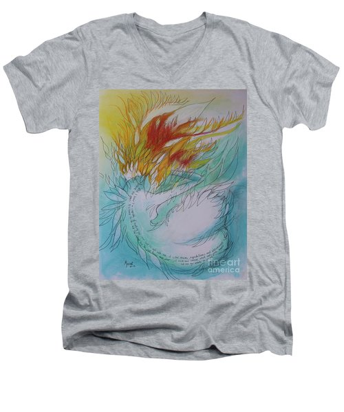 Burning Thoughts Men's V-Neck T-Shirt by Marat Essex