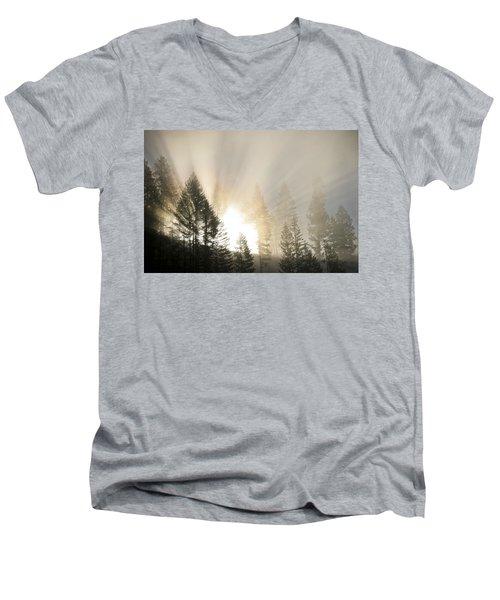 Burning Through The Fog Men's V-Neck T-Shirt