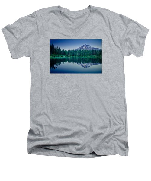 Burnt Lake Reflection Men's V-Neck T-Shirt