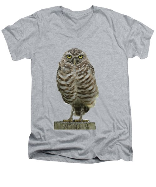 Burrowing Owl Lookout Men's V-Neck T-Shirt