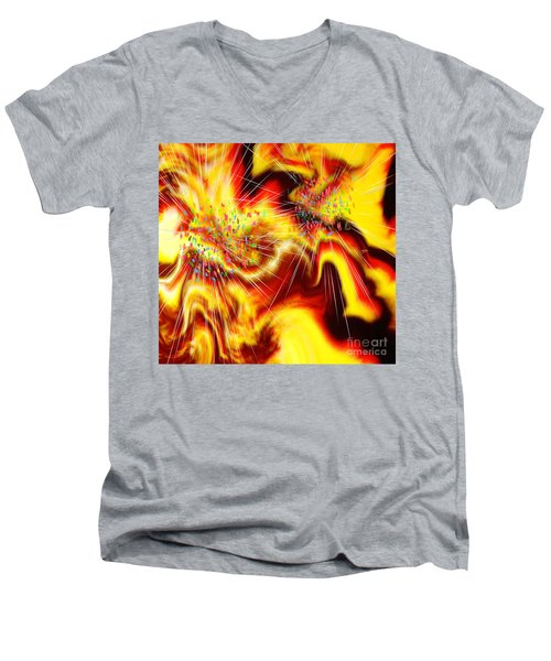 Burst Of Energy Men's V-Neck T-Shirt by Belinda Threeths