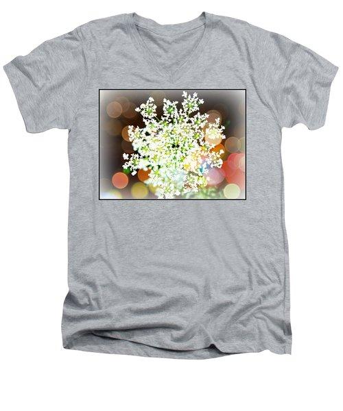 Burst Of Light Kaleidoscope Men's V-Neck T-Shirt