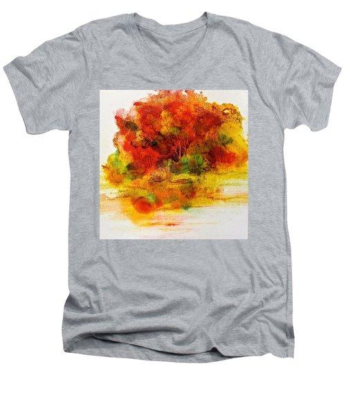 Burst Of Nature IIi Men's V-Neck T-Shirt