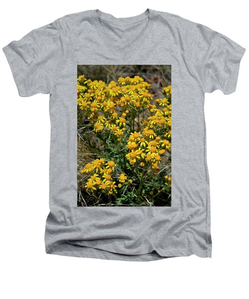 Burst Of Yellow Men's V-Neck T-Shirt