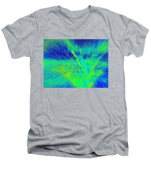 Men's V-Neck T-Shirt featuring the photograph Bursting by Betty-Anne McDonald