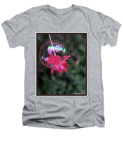 Bursting Free Men's V-Neck T-Shirt by Irma BACKELANT GALLERIES
