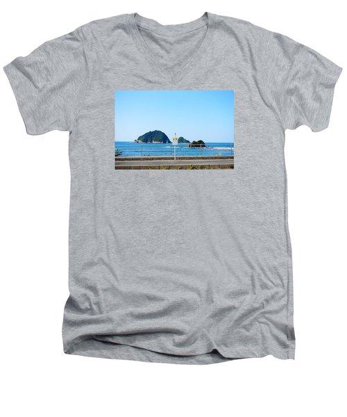 Bus Station Men's V-Neck T-Shirt