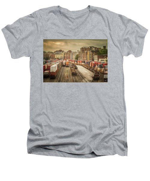 Busines End Of The City... Men's V-Neck T-Shirt