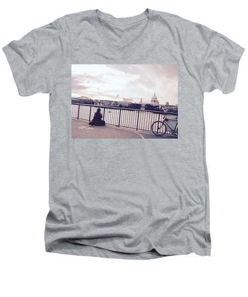 Busking Place Men's V-Neck T-Shirt