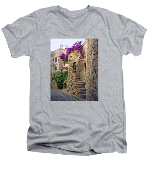 Bussana Vecchia Street Men's V-Neck T-Shirt