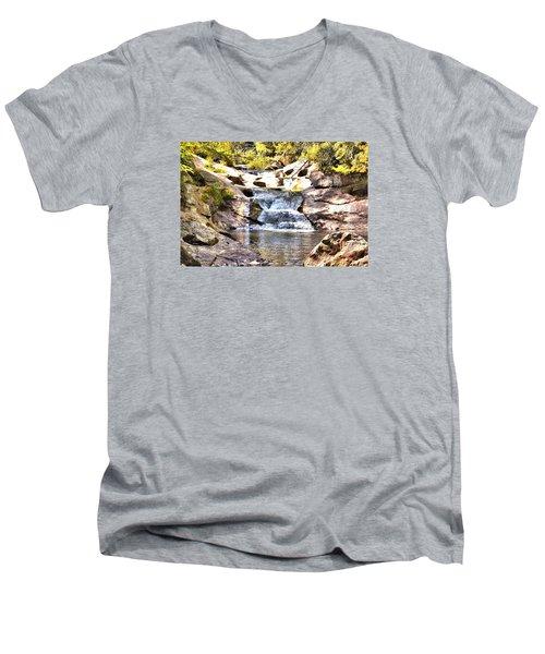 Bust Your Butt Falls Men's V-Neck T-Shirt by James Potts