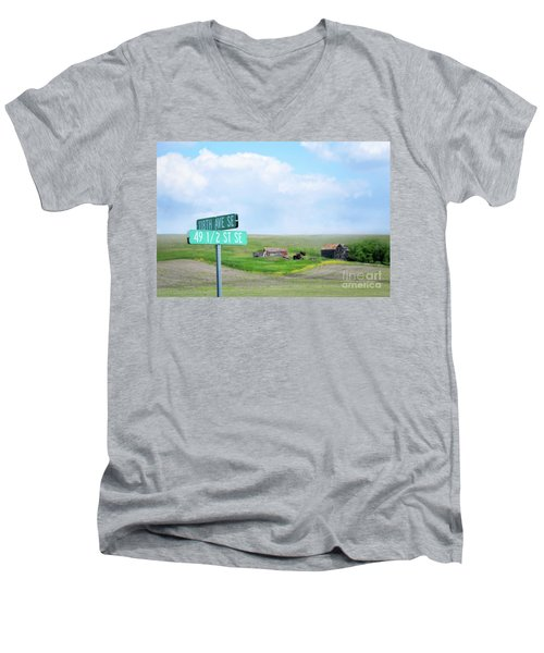 Busy Intersection Men's V-Neck T-Shirt