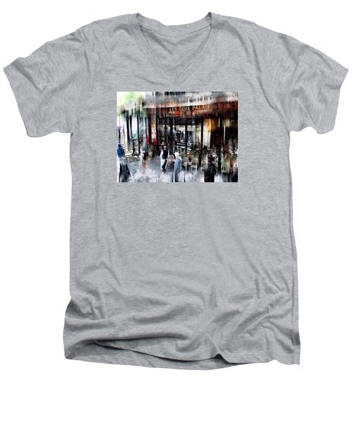 Busy Sidewalk Men's V-Neck T-Shirt