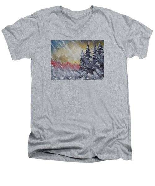 But The Weather Man Said.... Men's V-Neck T-Shirt by Dan Whittemore