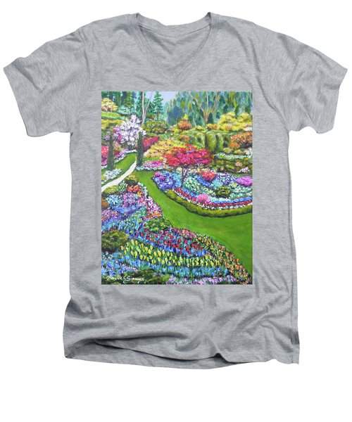 Butchart Gardens Men's V-Neck T-Shirt