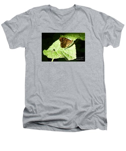 Men's V-Neck T-Shirt featuring the photograph Butterfly 2 by Jean Bernard Roussilhe