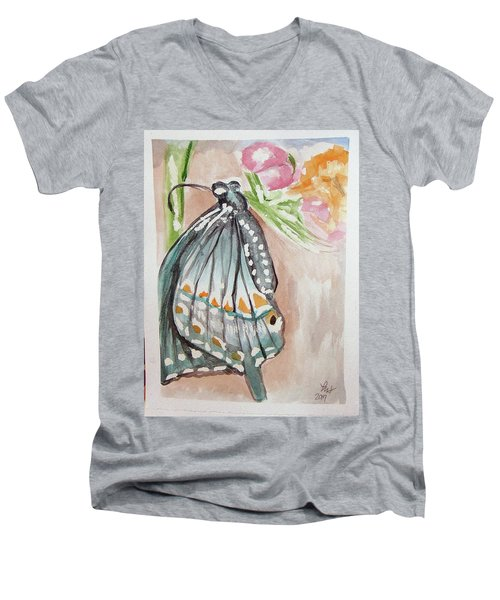 Butterfly 4 Men's V-Neck T-Shirt