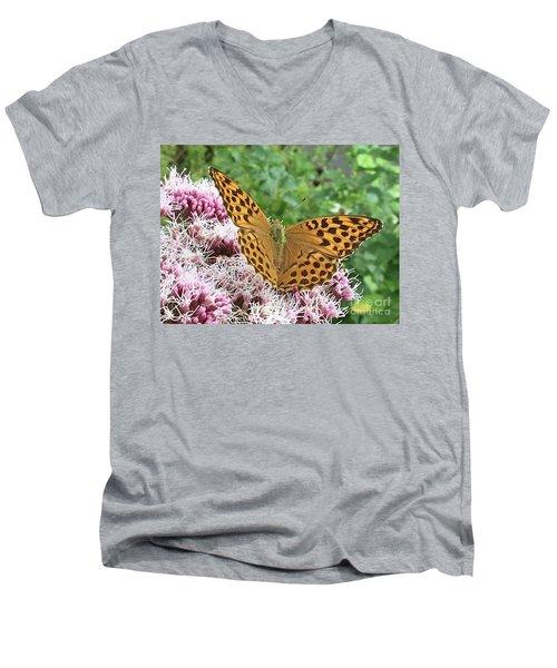 Butterfly Argynnis Paphia  Men's V-Neck T-Shirt