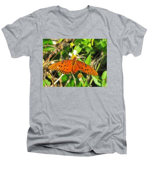 Butterfly At Canaveral National Seashore Men's V-Neck T-Shirt