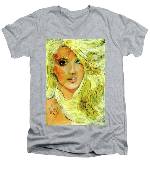 Butterfly Blonde Men's V-Neck T-Shirt