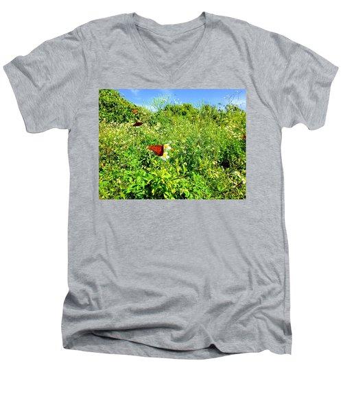 Butterfly Bonanza Men's V-Neck T-Shirt