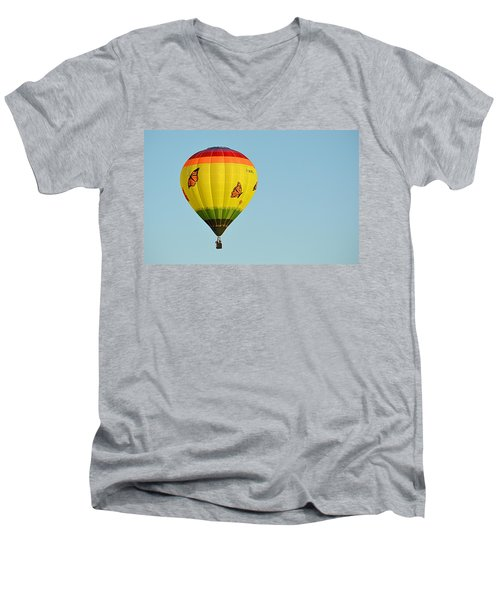 Men's V-Neck T-Shirt featuring the photograph Butterfly Designs by AJ Schibig